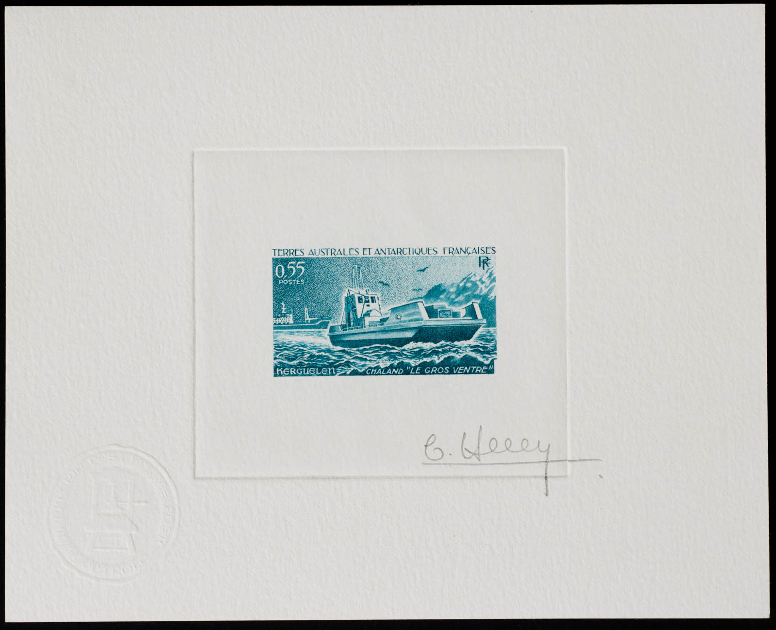French Antarctic Le Gros Ventre Stamp Artist's Proof